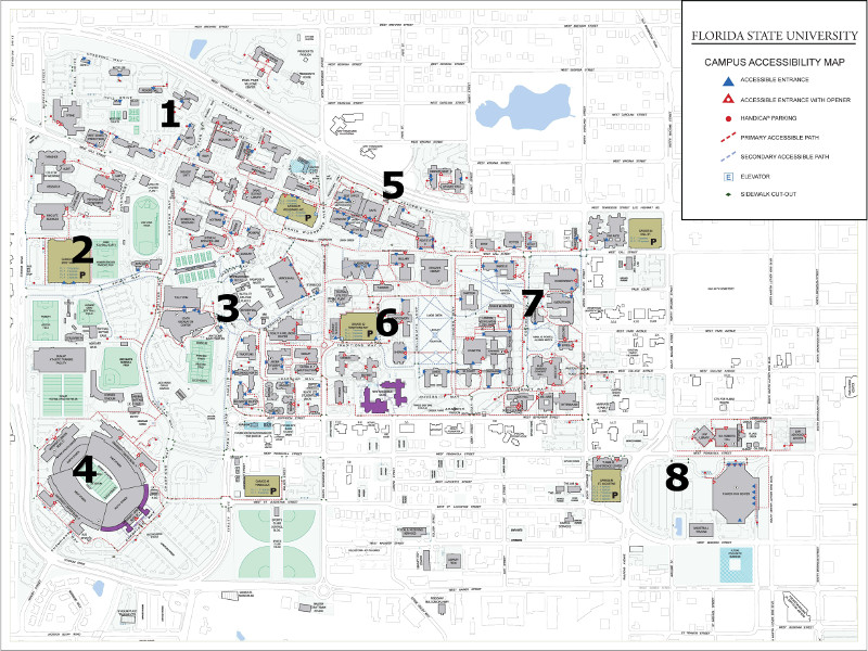 Main Campus Accessibility Map